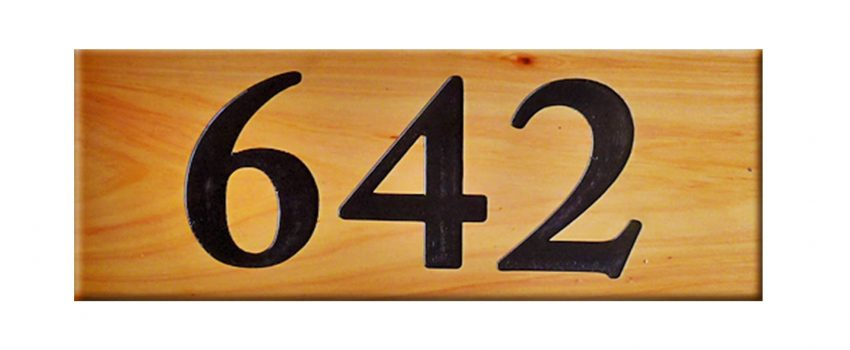 Macrocarpa House Numbers
